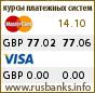 Курс GBP в системах Visa и MasterCard